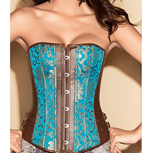 Corsetti corsetto poliestere waist cappotto giacca imbottita blu corsetto Court