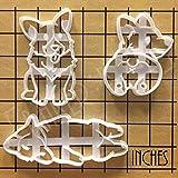 2 Typ 2Pcs / set Nette Corgi Hund geformt Cookie Cutter Mold Küchen Bakeware DIY Werkzeug