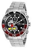 Invicta 27388 Disney Limited Edition Mickey Mouse Orologio da Uomo acciaio inossidabile Quarzo quadrante nero