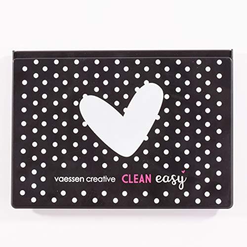 Vaessen Creative 1009-001 Clean Easy Stempelreinigungskasten, Dose mit Reinigungskissen zum Reinigen von Clear und Cling Stamps, Motivstempeln und weiteren Stempeln, Multi-Colour -