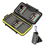 Beeway® Memory Card Protective Hard Carry Wallet Case Orginizer 6 Slots for Sandisk Transcend Lexar Kingston Compact Flash CF Cards