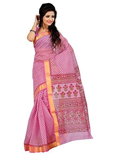 Roopkala Silks & Sarees Cotton Saree(MA-1004_Pink)