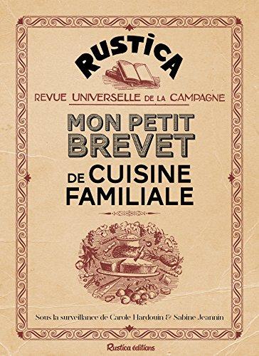 Mon petit brevet de cuisine familiale