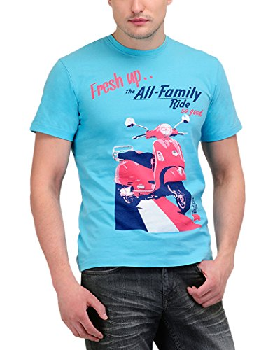 Yepme Men's Blue Graphic T-shirt -YPMTEES0018_S  available at amazon for Rs.139