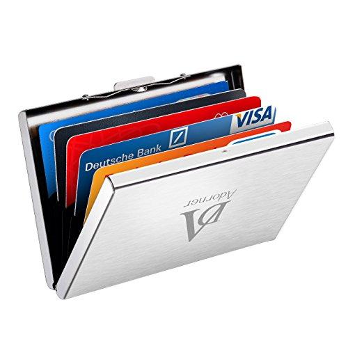 Xintop Anti-RFID Kreditkartenetui für bis zu 6 Karten Minimalism Kreditkartenbox Visitenkartenetui Anti-Entmagnetisierung Ausweishülle Credit Card Holder aus Edelstahl, ideal für Damen und Herren, Arbeit und Reise (Credit Geldbörse)