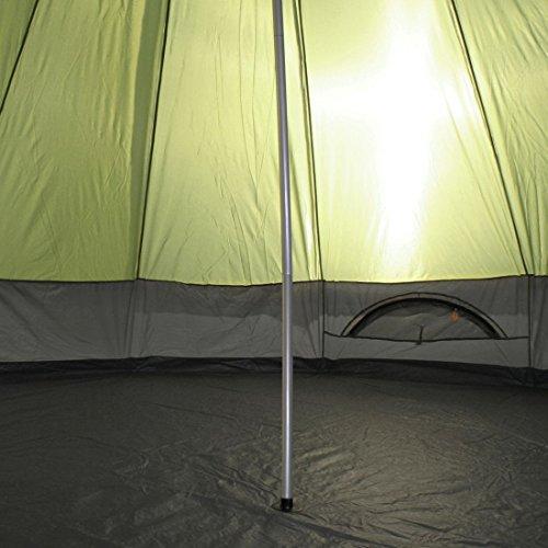 10T Mojave 400 Beechnut - Tipi Zelt mit XXL Wohn- & Schlafbereich, Campingzelt für 4-8 Personen, Indianer Outdoorzelt mit Bodenwanne, wasserdichtes Pyramidenzelt mit 5000mm, Familienzelt mit Transporttasche, Zeltheringen, Abspannleinen und Zeltgestänge - 7
