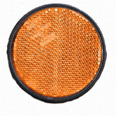 Rückstrahler 60mm selbstklebend, orange
