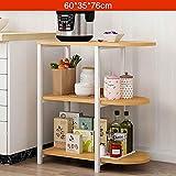 ZWJbine Küchenregal 3 Boden Mikrowelle Ofen Aufbewahrungsschrank Multifunktions-Backofen Rack Größe: 60 * 35 * 76 cm (Farbe : C)