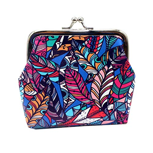 EUzeo Women's Print Coin Purse Money Bag Change Card Holders Small Wallet Clutch Purse
