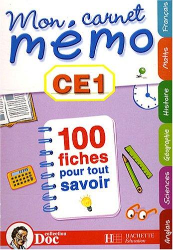 Mon carnet mémo CE1