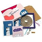 Taumur DIY-Set mit PPM-Seil für einfache Hundeleine - Goldbraun/pink