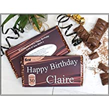 Personalised Happy Birthday 114g Galaxy Milk Chocolate Bar ~ 18th 21st 30th 40th 50th Birthday Gift Present Idea N42 - ANY AGE for him her