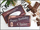 Personalised Happy Birthday 114g Galaxy Milk Chocolate Bar ~ 18th 21st 30th 40th 50th Birthday Gift Present Idea N42 - ANY AGE
