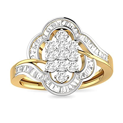 PC Jeweller The Gerri 18KT Yellow Gold & Diamond Rings