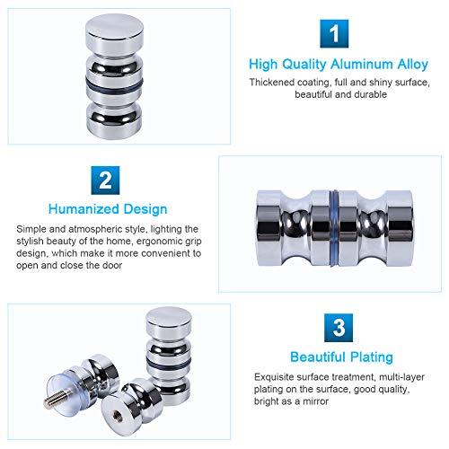 51yDIGSiz3L - Tirador para puerta de muebles Manija de puerta de la aleación de aluminio para el gabinete de la ducha del cuarto de baño del botón de cristal solo