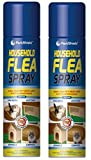 2 X 200ml Pest Shield Household Flea Spray Ideal For Pet Beds And Soft Furnishings Kill Fleas Instantly