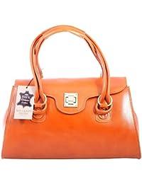 Chicca Tutto Moda CTM sac à main Femme classique, 37x24x17cm, cuir véritable 100% made in Italy