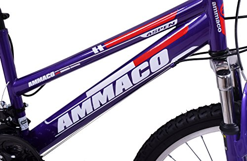 "51yDJZ5 p5L - Ammaco ASPEN WOMENS 20"" FRAME 21 SPEED FRONT SUSPENSION 26"" WHEEL MOUNTAIN BIKE PURPLE"
