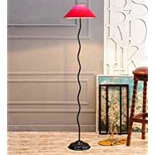 Red Cotton Zig Zag Floor Lamp /Standing Lamp By New Era For Living Room /Drawing Room/Office/Bedroom/Decoration /Corner/Gift/Lobby