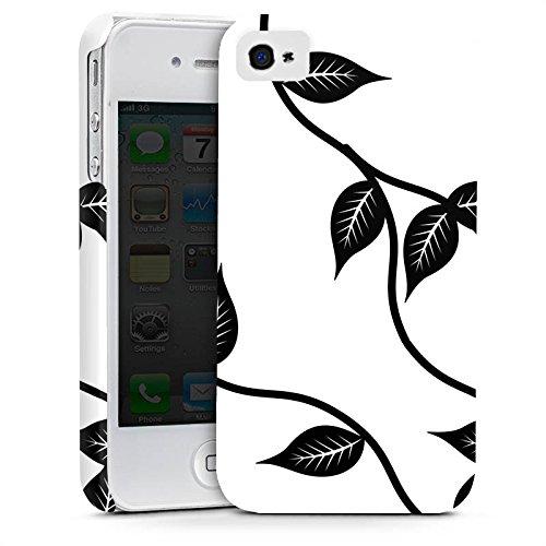 Apple iPhone X Silikon Hülle Case Schutzhülle Blätter Floral Muster Premium Case glänzend