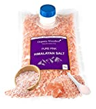 Pure Pink Himalayan Salt (Coarse) 1kg Premium UNREFINED | 100% Natural | Gluten Free | Vegan | Vegetarian by Organic Wonders