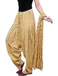 Kalpit Creations Women's Premium Cotton Traditional Handmade Readymade Semi Patiala Salwar With Dupatta 100% Cotton...