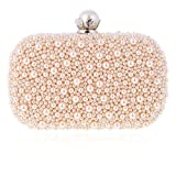 Damara Mini Damen Perle Hartschalen Luxus Fashion Clutch Handtasche,Champagner