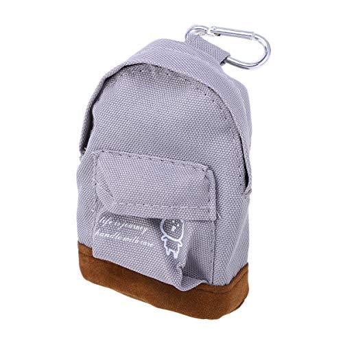 BESTOYARD Rucksack Münztüte Mini Oxford Cloth Wallet Hand Pouch Purse Schlüsselanhänger Schlüsselanhänger (Grau)