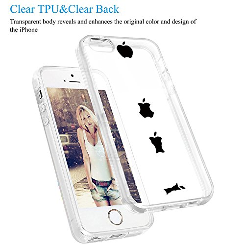 Vanki® Coque iPhone 5/5S/SE, TPU Souple Etui de Protection Silicone Case Soft Gel Cover Anti Rayure Anti Choc pour Iphone5/5S/SE 4