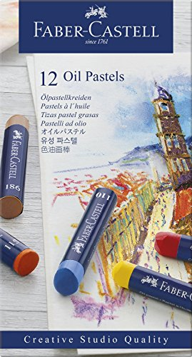 Faber-Castell 127012 - Ölpastellkreide Studio Quality 12er Etui 12 verschiedene Farben (Pro Finger)