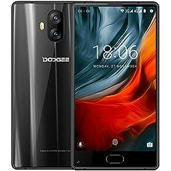 """Smartphone Libre, DOOGEE MIX LITE Moviles Libres Baratos - 5.2"""" HD IPS - MT6737 4G Android 7.0 Smartphones - 13.0MP+13.0MP Cámara - 2GB RAM+16GB ROM - 3080mAh - Huella Dactilar - Bluetooth - (Negro)"""