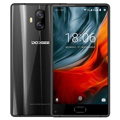 Schöne Android-handys Billige (Smartphone ohne Vertrag, DOOGEE MIX Lite 4G Dual SIM Günstig Handy, 5.2 Zoll Android 7.0 HD IPS Handys mit MT6737 2GB RAM+16GB ROM, Dual 13.0MP Rear Kamera + 8.0MP Front Kamera, 3080 Akku FingerabdruckSensor, Bluetooth,GPS- Schwarz)