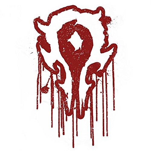Unbekannt Warcraft Bloody Horde Logo T-Shirt Großer Frontprint Weiß Weiß