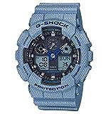 CASIO Herren Digital Uhr mit Harz Armband GA-100DE-2AER