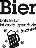 Graz Design 620460_40_070 Kühlschrank Aufkleber Wandtattoo Tattoo für Küche Bier kaltstellen Spruch (Größe=53x40cm//Farbe=070 schwarz)