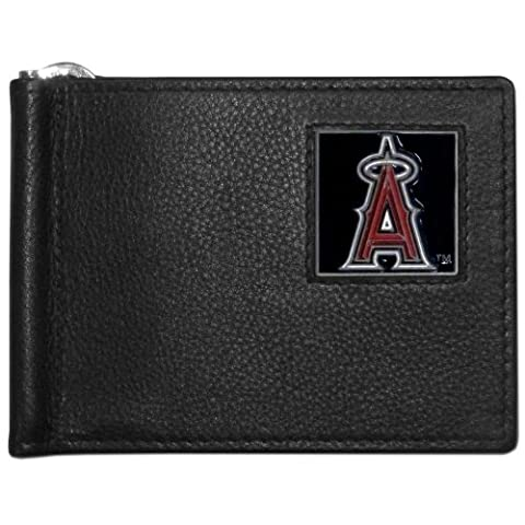 MLB Los Angeles Angels of Anaheim Leather Bill Clip Wallet