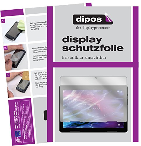 dipos I 2X Schutzfolie klar passend für Medion Lifetab E10604 Folie Displayschutzfolie