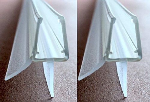 2x100cm Ersatzdichtung Set / Dichtung für Duschtür / Dusche für 6mm / 7mm / 8mm Glasdicke / Wasserabweisprofil / Duschdichtung mit Schwallschutz 2er Set