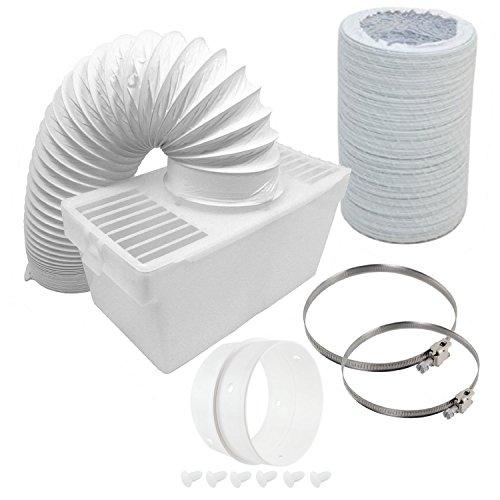 Spares2go Boîte de condensation et extra long kit de tuyaux avec bague de connexion pour Tricity Bendix sèche-linge (10,2 cm/100 mm de diamètre)