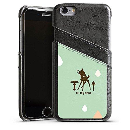 Apple iPhone 4 Housse Étui Silicone Coque Protection Oh ma biche Bambi Chevreuil Étui en cuir gris