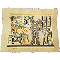 Papiro Egipcio Original Hecho y Pintado a Mano en Egipto de 33 x 43 cm Aproximadamente. P2H52