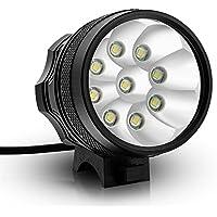 Kingtop 9x CREE XM-L T6 LED Testa Luce Faro per Bici Bicicletta MTB con Ricaricabile Batteria