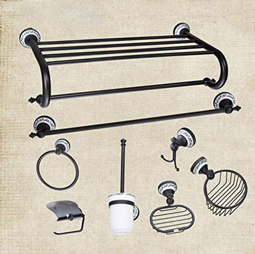 Öl Eingerieben Bronze Bad-accessoires (Bad Handtuchhalter, Handtuchring, Papierhalter, Toilettenbürstenhalter, Milchglas Tasse, Öl eingerieben Bronze Bad-Accessoires)