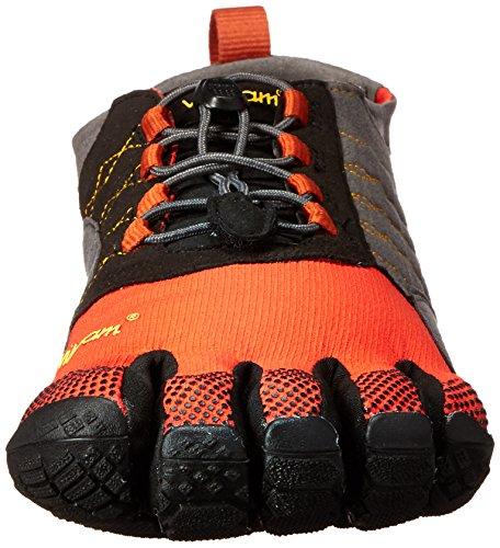 Vibram Five Fingers Trek Ascent, Chaussures Multisport Outdoor Homme, Schwarz Mehrfarbig (Grey/red/black)