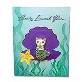 Black Jaguar Meerjungfrau Pin   Meerjungfrau Geschenke   Geschenke für Mädchen   Hartemaille Pin
