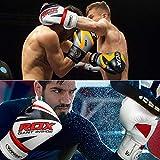 RDX Boxhandschuhe Muay Thai Boxsack Kickboxen Training Sparring Sandsack Maya Hide Leder Boxing Gloves - 3