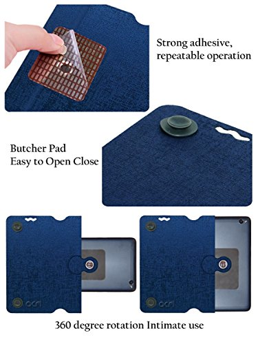 Acm Designer Rotating Flip Flap Case for Alcatel Pixi 4 6″ 4g Mobile Stand Cover Blue