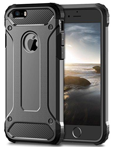 74da4bb31c7 Coolden - Funda para iPhone SE y iPhone 5S - Funda protectora híbrida de  doble capa