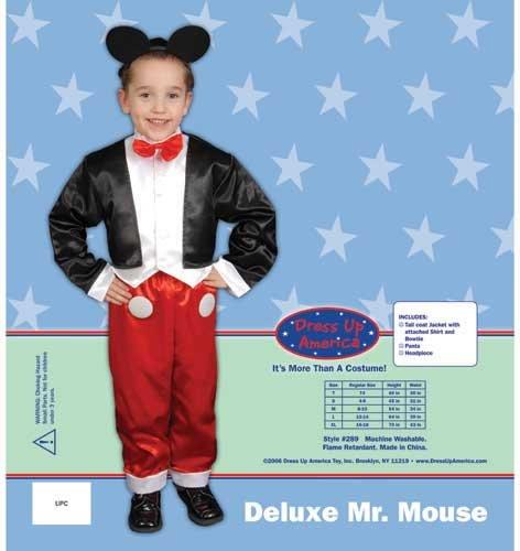 uxe Herr Maus Kinderkostüm Set (Kleinkind Jungen Mickey Mouse Kostüme)