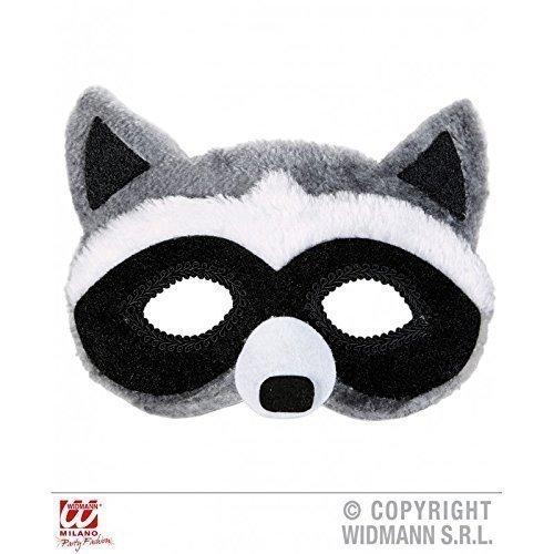 Augenmaske / Maske / Gesichtsmaske plüschiger Waschbär ( Waschbärkostüm / Tierkostüm Zubehör (Erwachsene Kostüme Waschbär)